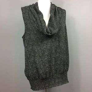 Michael Michael Kors Grey Cowl Neck Top XL